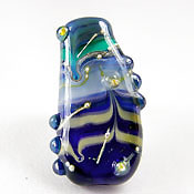 'BLUE BAYOU'  Lampwork Focal Glass Bead