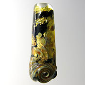 'GOLDEN MAGIC'  Lampwork Focal Glass Bead  CLEARANCE!!!
