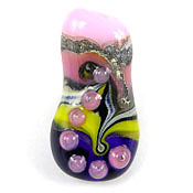 'CANDY LIME'  Lampwork Focal Glass Bead