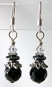 Faceted Onyx Semi Precious Gemstone Earrings