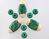 'MARQUIS FOCALS' <br><i><FONT POINT-SIZE=&quot;8pt&quot;>Lampwork Focal Beads Set</i></FONT>