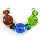 'JELLY BUTTONS'  Lampwork Glass Bead Set  CLEARANCE!!!