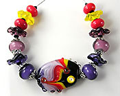 'MANDURAH SUNSET'  Lampwork Glass Bead Set