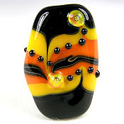 'ORANGES & LEMONS'  Lampwork Focal Glass Bead  CLEARANCE!!!