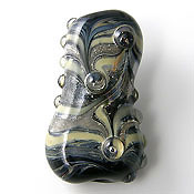 'RAKU MAGIC'  Lampwork Focal Bead