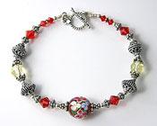 'FLOWER GARDEN'  Handmade Sterling Silver Bracelet