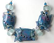 'CARIBBEAN BLUE'  Handmade Lampwork Bead Set  CLEARANCE!!!
