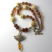 'TOPAZ DELIGHT'   Lampwork Beaded Necklace