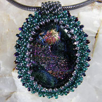 Dichroic Cabochon Necklace