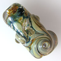 'COSMOS'  Lampwork Focal Glass Bead