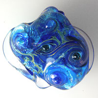 'ELECTRIC SISTA'  Lampwork Focal Glass Bead