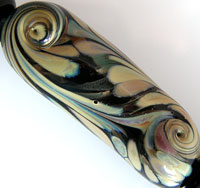 'MIDNIGHT FLIT'   Imperfect Lampwork Focal Glass Bead + Spacers