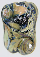 'GOLD RUSH'  Lampwork Focal Glass Bead + Spacers  CLEARANCE!!!