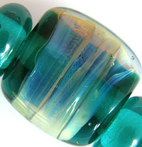 'DREAMY'  Lampwork Focal Glass Bead + Spacers