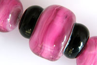 'ROSIE'  Imperfect Lampwork Focal Glass Bead + Spacers