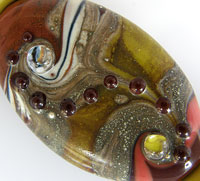 'WANDERING' Lampwork Focal Glass Bead + Spacers  CLEARANCE!!!