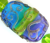 'SPRING' Lampwork Focal Glass Bead + Spacers