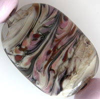'DESERT DAWN'  Lampwork Focal Glass Bead + Spacers  CLEARANCE!!!