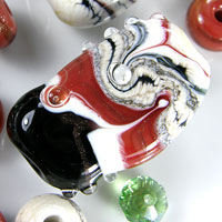 'ORIENTAL EXPRESS'  Lampwork Focal Glass Bead Set