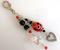 Handbag or Purse Charm            -      Red & Black
