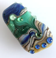 'TIDE POOL'  Lampwork Focal Glass Bead