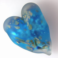 'MISTY HEART'  Lampwork Focal Bead or Pendant