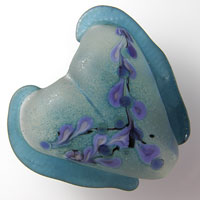 'WHIMSY'  Lampwork Heart Focal Glass Bead or Pendant