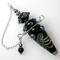 'GENIE'S TREASURE'   Sterling Silver Wired Lampwork Vessel