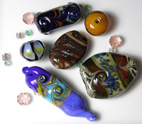 'LAB RATS Set 7' - Handmade Lampwork Glass Beads